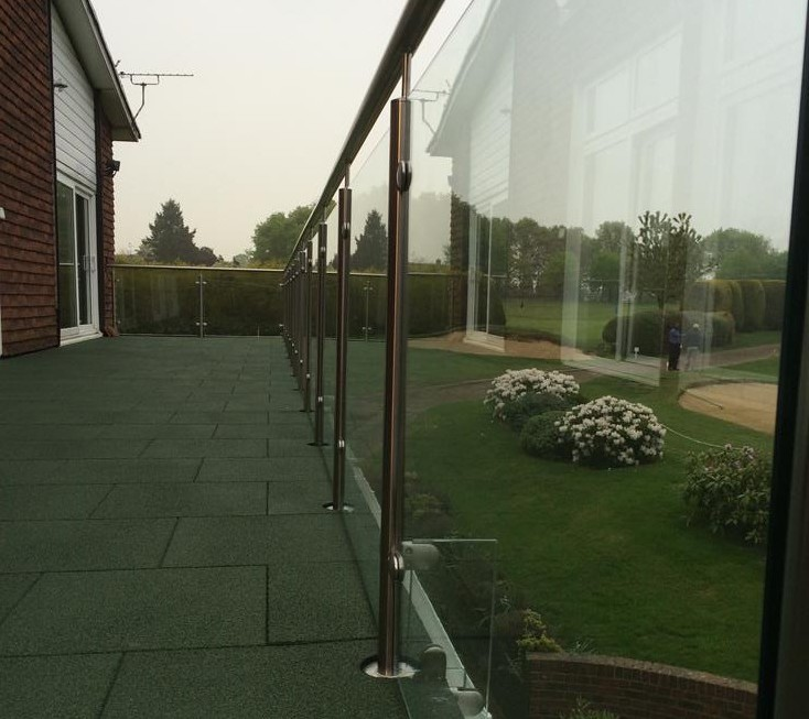 balcony with glass balustrade