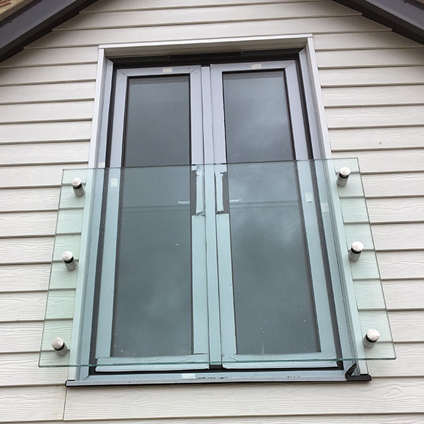 frameless glass juliet balcony kent